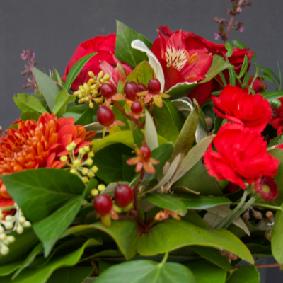 Blumenstrauss in Rot