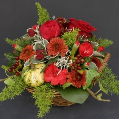 Blumengesteck Rot
